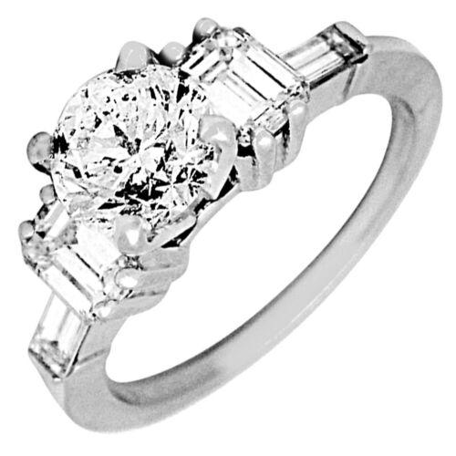 Round Cut Diamond Engagement Ring Platinum 1.80 Carat GIA Certified