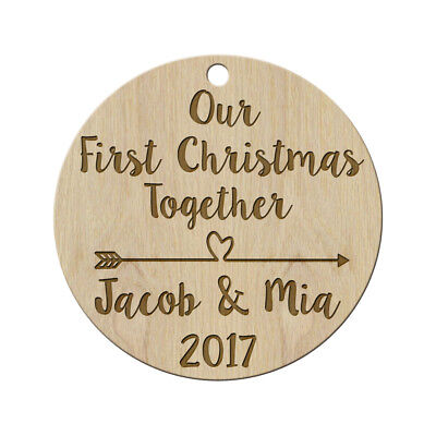 Our First Christmas Ornament Married - Personalized Christmas Ornaments Mr & Mrs