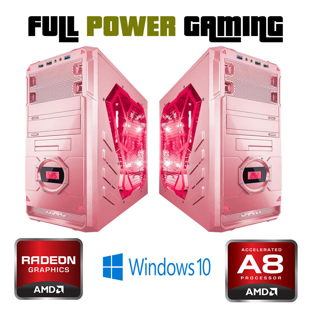 Custom Built Fast Desktop PC AMD A8 QUAD CORE GAMING RADEON