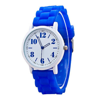 Women Silicone band Motion Quartz Sport Watches Blue наручные часы Gift watch