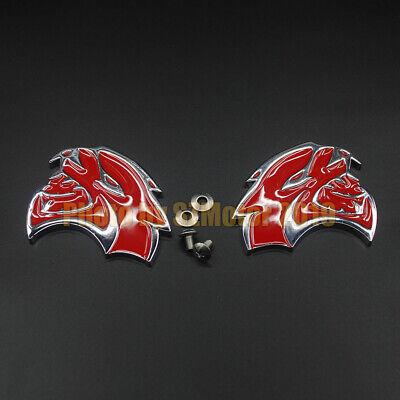 2PCS Red Premium Alloy Car Floor Mat Carpet logo emblem fit DODGE SRT Hellcat