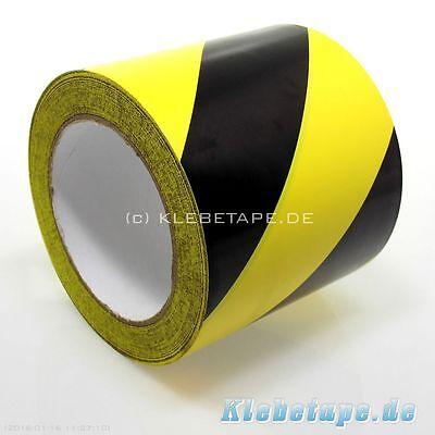 Signalband Warnband 100mm Breite x 33m Klebeband gelb schwarz  Markierungsband