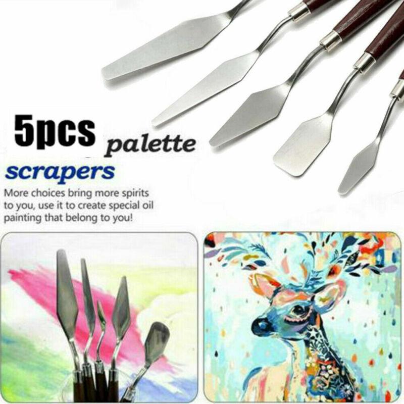5PCS Set Stainless Palette Knife Scraper Spatula for Artist Oil Painting Knife