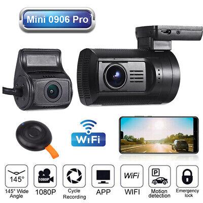 Updated Mini 0906 Pro Front+Rear 2CH 1080P Wi-Fi GPS Night Vision Car Dash Cam