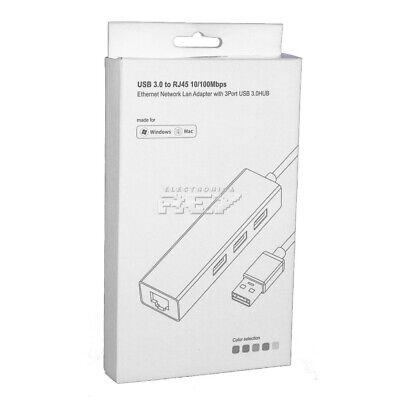 Adaptador TIPO C Macho a Red Ethernet RJ45 Tarjeta Red 10/100Mb Conversor...