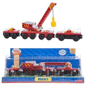 ROCKY-CRANE-MAGNETIC-ARM-Thomas-Wooden-Engine-Train-NEW