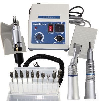 Dental Lab Marathon Handpiece 35k Rpm Electric Micromotor Polisher10 Burs Tips