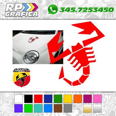 ADESIVO SCORPIONE sticker ABARTH COFANO FIAT 500 595 695 PUNTO