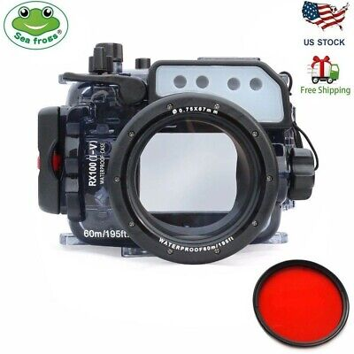 Seafrogs 60m/195ft Underwater Camera Housing Case for Sony RX100 I II III IV V