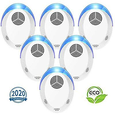 Ultrasonic Pest Repeller 6 Pack, 2020 Upgraded Repellent, Control Set Of Plug In