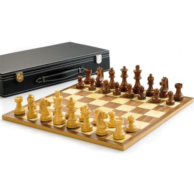 """Wooden Chess Set With 3"""" King"""