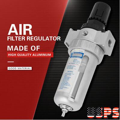 14 120psi Air Compressor Filter Water Separator Trap Tools With Regulator Us