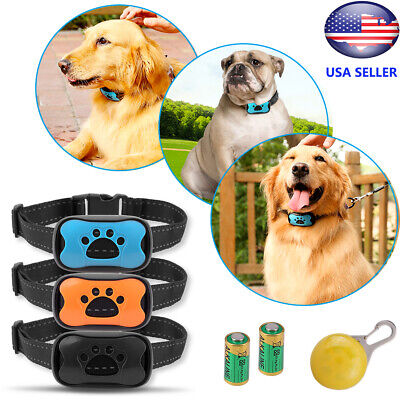 Anti Bark Collar Dog Pet Train Waterproof Sound Vibration No Shock Stop Barking