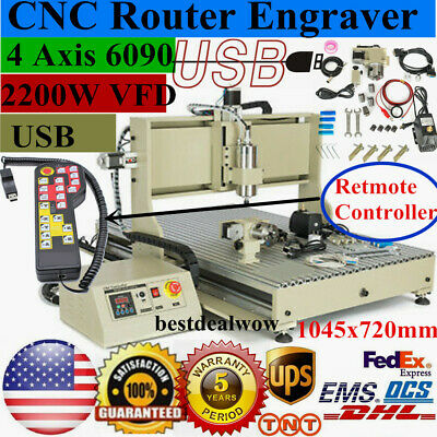 Usb 6090 4axis Cnc Router Engraver 2.2kw Spindle Metal Engraving Mill Machinerc