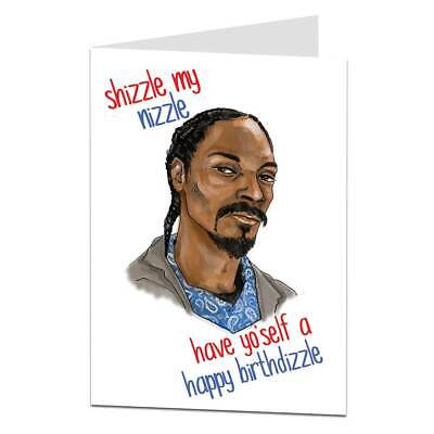 Funny Birthday Card For Men Women Rap Hip Hop Theme Best Friend
