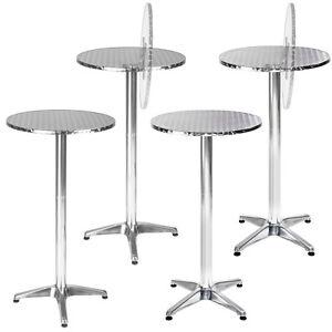 Table haute de bar aluminium bistrot restaurant jardin 60cm hauteur r glable ebay - Table jardin hauteur reglable toulouse ...