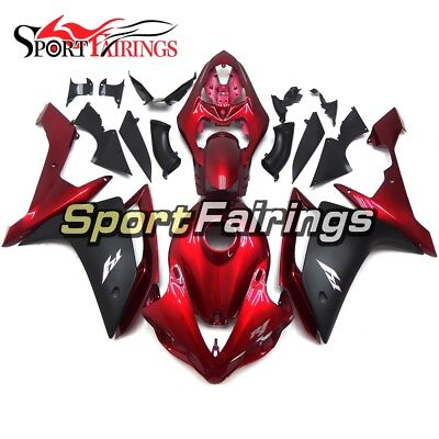 Black Red Fairings For Yamaha YZF1000 R1 2007 2008 Injection ABS Body Kit