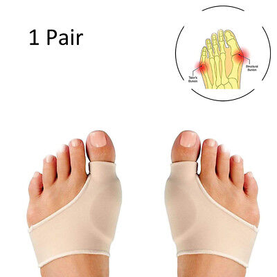 1Pair Bunion Corrector Relief Sleeve Gel Pads Cushion Splint Orthopedic Prote