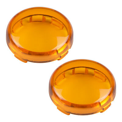 Amber Replacement Lens Fit for Harley Turn Signals Lens Set-Deuce Style Signals