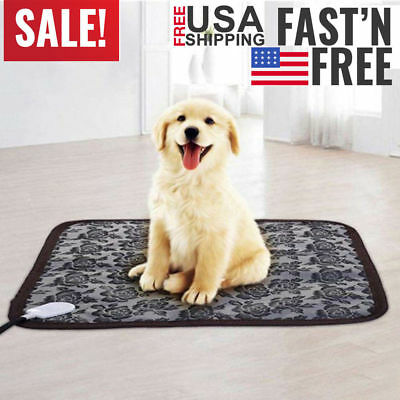 Pet Dog Cat Waterproof Electric Heating Pad Puppy Winter Warmer Mat Bed Blanket