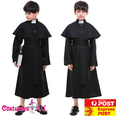 Boys Priest Costume Book Week Religious History Kids Child Book Week - Priest Kid Costume