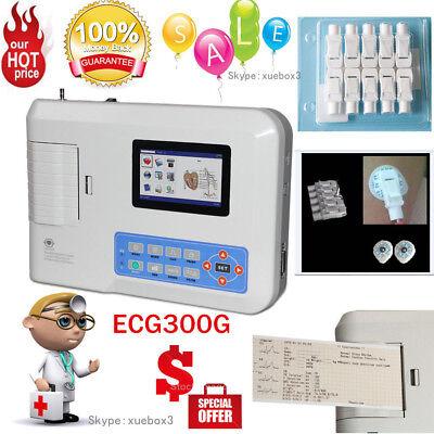 Fda Ecg300g 3-channel 12-lead Ecgekg Machineusbsoftwarecardiographusa Fedex