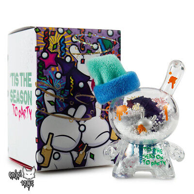 """2018 Fiesta 3"""" Holiday Dunny Art Figure By Jec x Kidrobot - Brand New Sealed"""