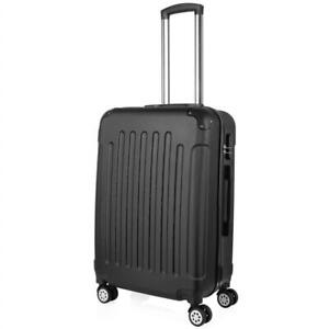 NEW PRASACCO Luggage Suitcase Carry on Luggage Cabin Ultra Lightweight Travel with 4 Wheels, ABS Hard Shell, 24, Bl...