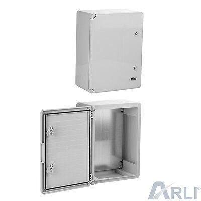 ARLI Schaltschrank 40 x 60 x 20 cm verzinkt ABS Kunststoff IP65 400x600x200 mm