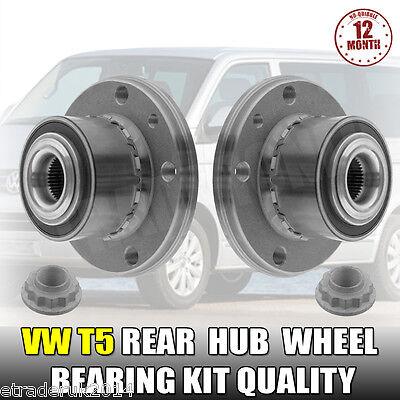 2 X VW VOLKSWAGEN T5 TRANSPORTER REAR HUB WHEEL BEARINGS <em><</em>...