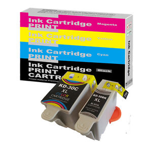 2-Ink-Cartridges-For-Kodak-30XL-Black-30CL-Colour-ESP-C315-C310-C110-C115
