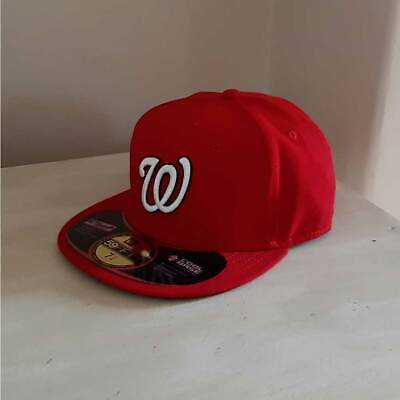 new arrival b4c58 11d48 Washington Nationals New Era MLB OnField 59FIFTY Fitted Cap - size 7 1 4