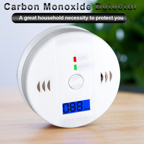 CO Carbon Monoxide Detector Wireless Security Voice Alert Lo