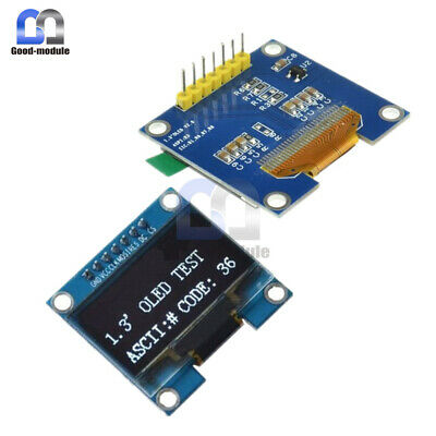1.3inch White Spi Serial Oled Lcd Display 128x64 Ssh1106 Module For Arduino Uno