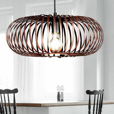 Vintage Retro Pendel Lampe Decken Strahler Käfig Kupfer Decken Hänge Leuchte