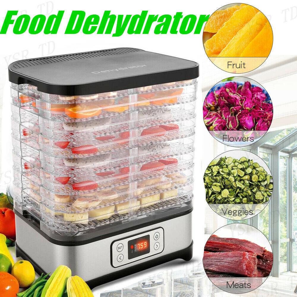 8 tray electric food dehydrator beef jerky