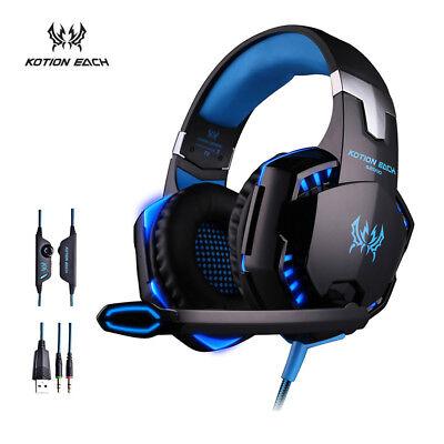 Game Kopfhörer Headset Mikrofon für Computer PC Spiele Game mit Mikrofon