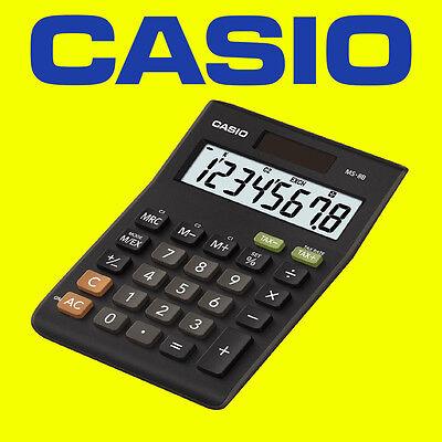 Casio MS-8B Multi Functional 8 Digit Desk Calculator Dual Power Solar & Battery