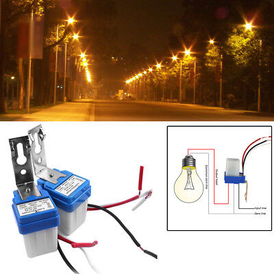 2pc As-10 12v 10a Auto On Off Photocell Street Light Switch Photo Control Sensor
