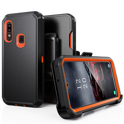 For Samsung Galaxy A10e A20 Shockproof Case Cover Clip Fits Otterbox Defender