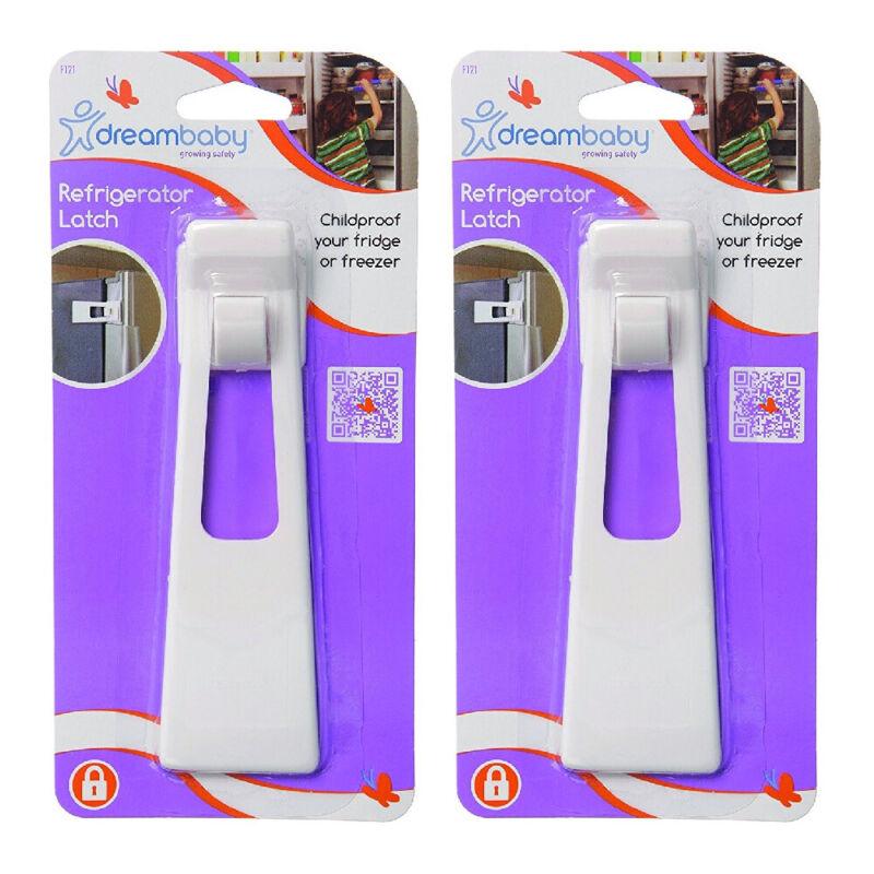 Dreambaby Refrigerator Appliance Latch Lock Fridge Freezer Safety White, 2-Pack