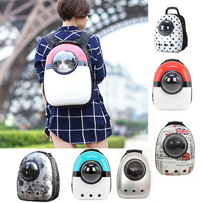 Cute Pet Dog Cat Astronaut Backpack Space Capsule Breathable Outdoor Carrier Bag