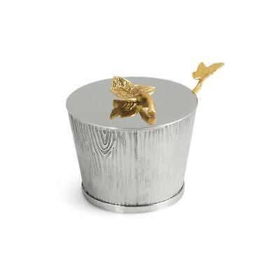 Michael Aram Ivy & Oak Hand Textured Stainless Steel Pot with Spoon - 123514