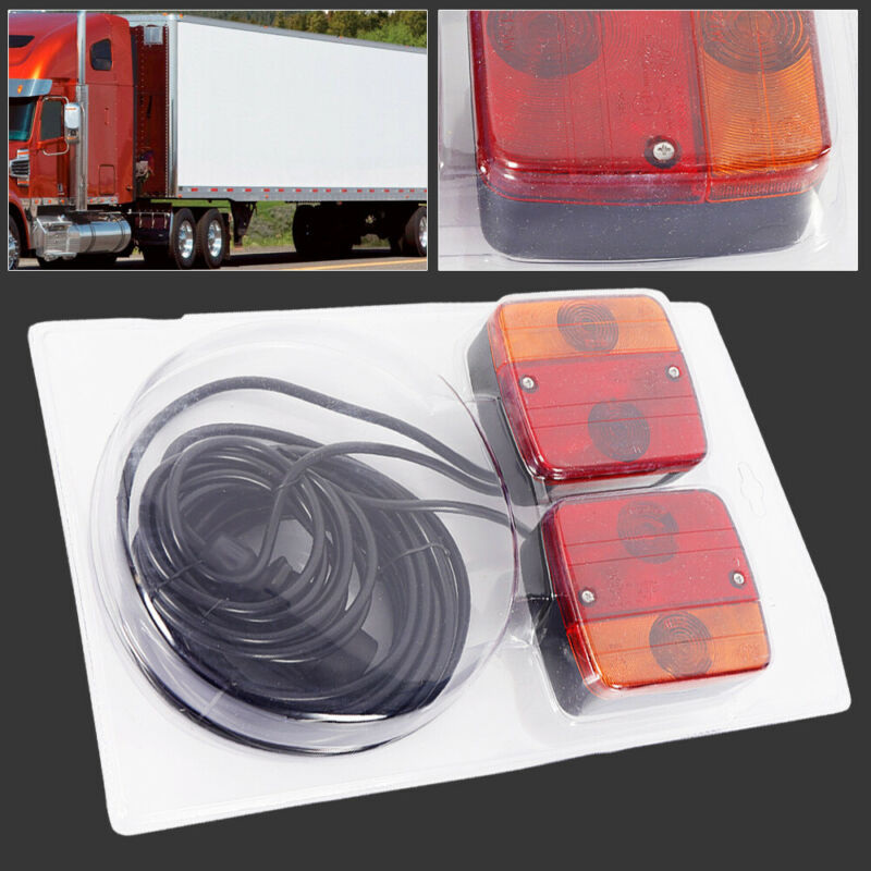 7.5m Cable Trailer Towing Lights Rear Tail Board Lamps Stop Car Van Best Sale