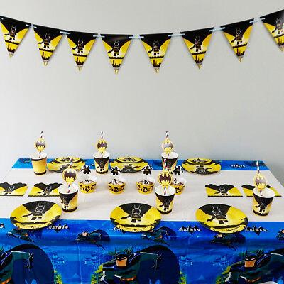 74pcs/lot For 12 Kids Batman Theme Birthday Party Decoration Tableware Set - Batman Themed Birthday Party