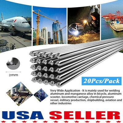 20pcs Low Temperature Aluminum Welding Solder Wire Flux Brazing Repair Rods Usa