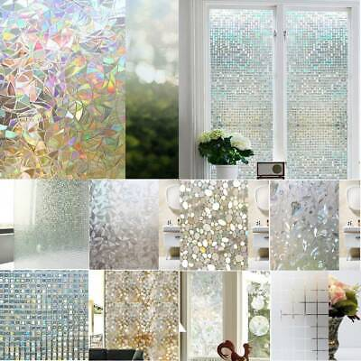 3D PVC Frosted Opaque Window Film Static Decorative Adhesive Home Glass Stickers Frosted Glass Window Film