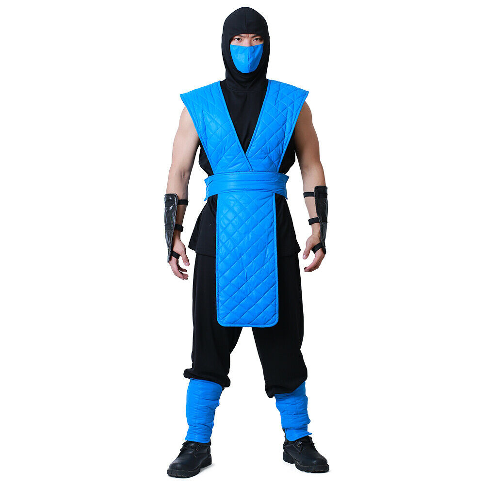 Mens Mortal Kombat Sub Zero Cosplay Costume Fancy Dress Halloween Ebay
