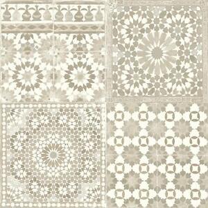Grandeco-Botanica-marroqui-Azulejo-Estampado-Papel-Pintado-Retro-Floral