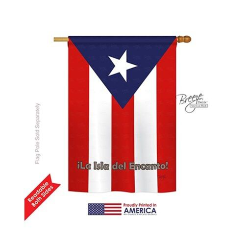 Breeze Decor Puerto Rico Nationality Decorative Vertical Gar